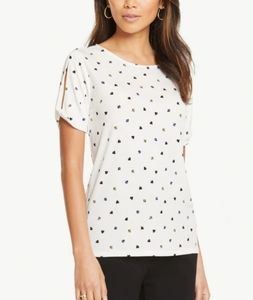 Ann Taylor Split Sleeve Top
